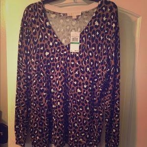 MK KORS. Leopard light weight sweater brand new.